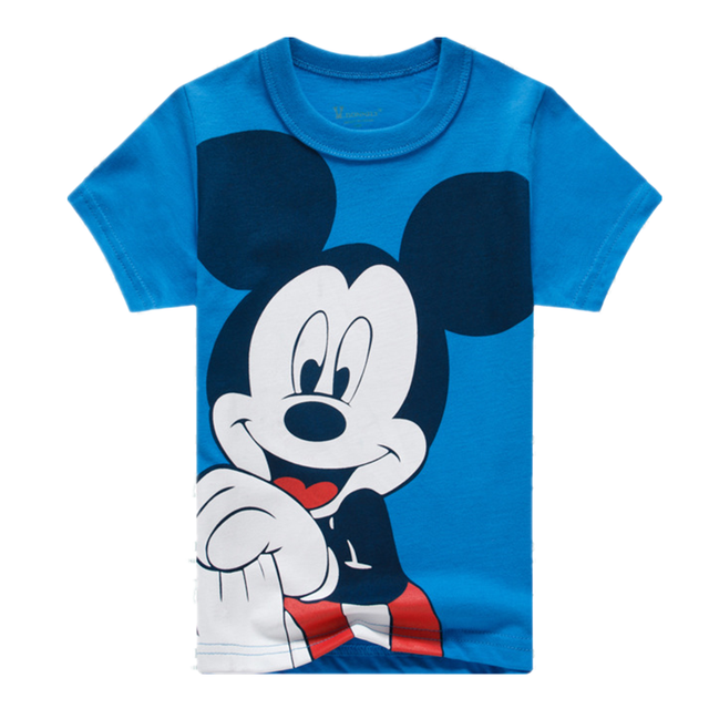 Baby Mickey T-Shirt Brand Designer Kids Mickey Mouse T-shirt for Boy Clothes Boy Cotton Cartoon Pop Hero Clothes Kids Print Tops