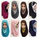 Crystal Cáñamo Moda Hermosa Bonita Islámico Musulmán Islam Hijab Amira Bufanda Mujer Cap