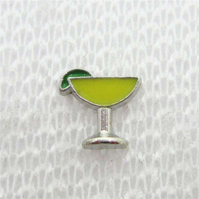 Hot Selling 30pcs/lot Margarita Floating Charms Living Glass Memory Floating Lockets Charms DIY Jewelry Charm Pendants