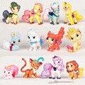 Hot 12 pcs Mini Palace Animais Cães Gatos Vinil Cavalo Doall ornamentos Decorativos Enfeites de Boneca LPS littlest Pet Shop Brinquedos Dos Miúdos RT122