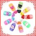 50 unids A023 Multicolor Oso Encantador Estilo Resina De Acrílico 3d Nail Art Consejos de Decoración de Manicura Animal Accesorios de La Joyería