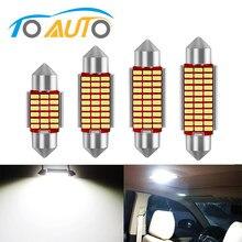 1 pces c5w conduziu a luz interior do carro canbus c10w festão 31mm 36mm 39mm 42mm lâmpadas led 6000 k branco cúpula luz de leitura lâmpada automóvel