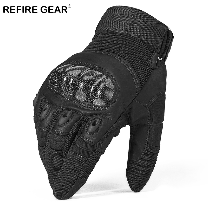 Refire Gear Outdoor Winter Full Finger Cycling Gloves Men Anti-skid Paintball Ride Hiking Gloves Winter Camping Glove
