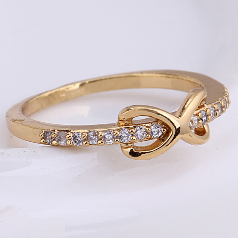 Aliexpress Buy Endless Cubic Zirconia 18k Gold Ring & Little