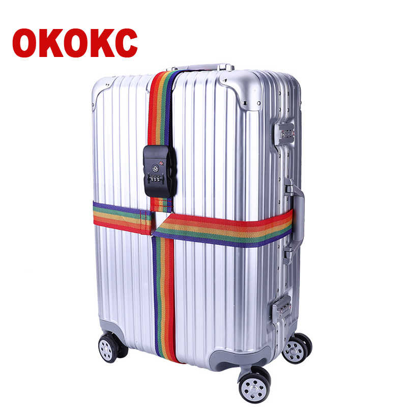 OKOKC Adjustable Cross Luggage Straps Travel Trolley Suitcase Personalized Safe Packing Belt Parts Items Accessories 4m