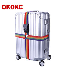 OKOKC Adjustable Cross Luggage Straps Travel Trolley Suitcase Personalized Safe Packing Belt Parts Items Accessories 4m(China)