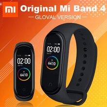 Banda inteligente mi Band 4 Original Xiaomi rastreador de actividad física podómetro Monitor de ritmo cardíaco pulsera Fitbits para xio mi Band 4 3