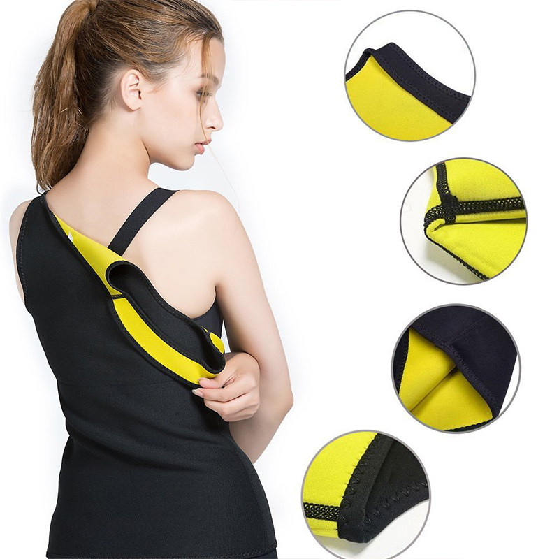 S-6XL Women Fitness Exercise Shapers Sweat Sleeveless Shirt Neoprene Clothes Vests Sports Training Cami Vest 1