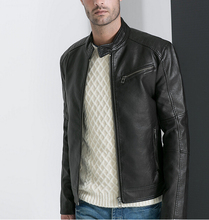 Free shipping hot New style Spring models men s jackets motorcycle collar Slim PU leather bomber