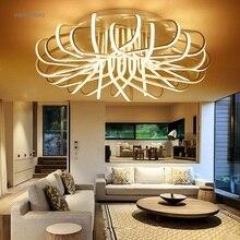 Акриловый художественный светодиодный потолочный светильник для дома, гостиной, спальни, лампа для учебы, коммерческое место, освещение, мерцающий потолочный светильник, AC100-240V