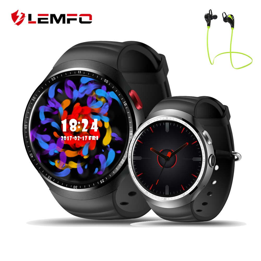 LES1 Smart Watch Android 5 1 OS MTK6580 Quad Core 1GB 16GB Bluetooth 3G WIFI Reloj