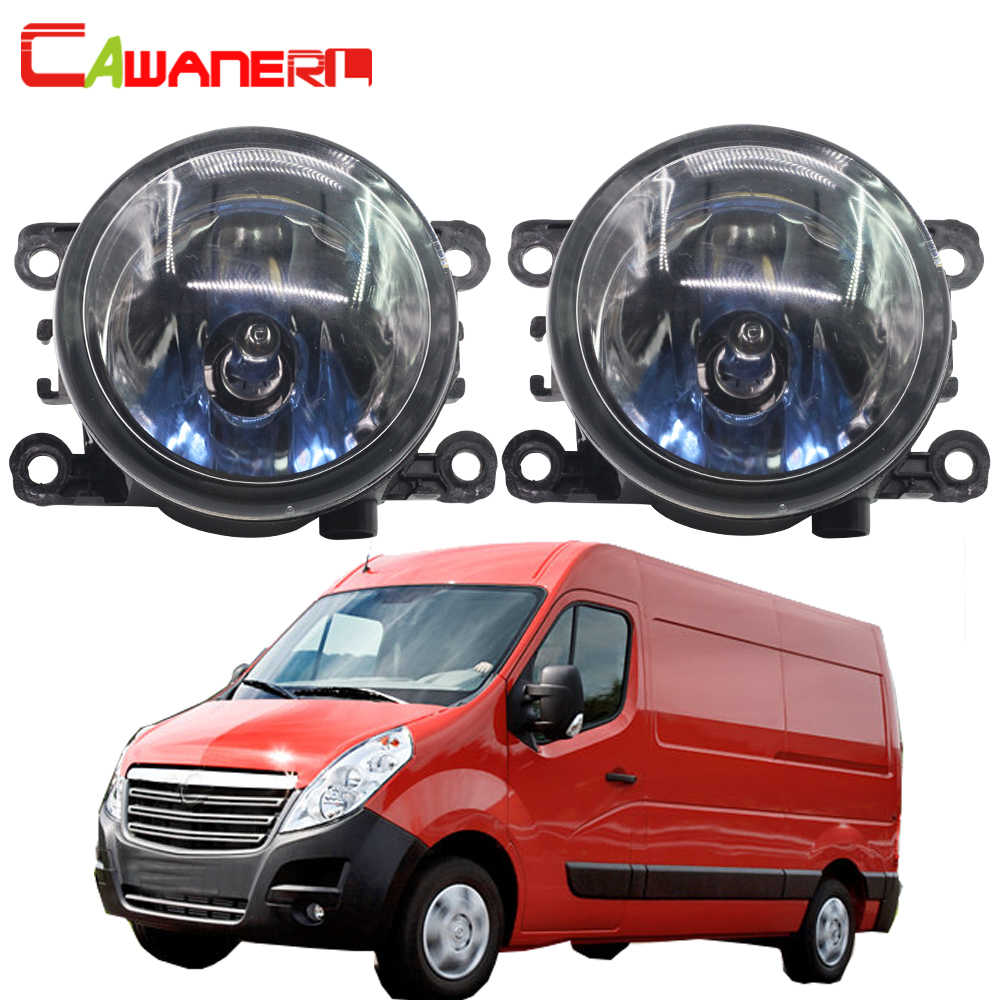 Cawanerl 2 Pieces 100W H11 Car Light Halogen Bulb Fog Light Daytime Running Lamp DRL 12V Styling For Opel Movano 2000-2010