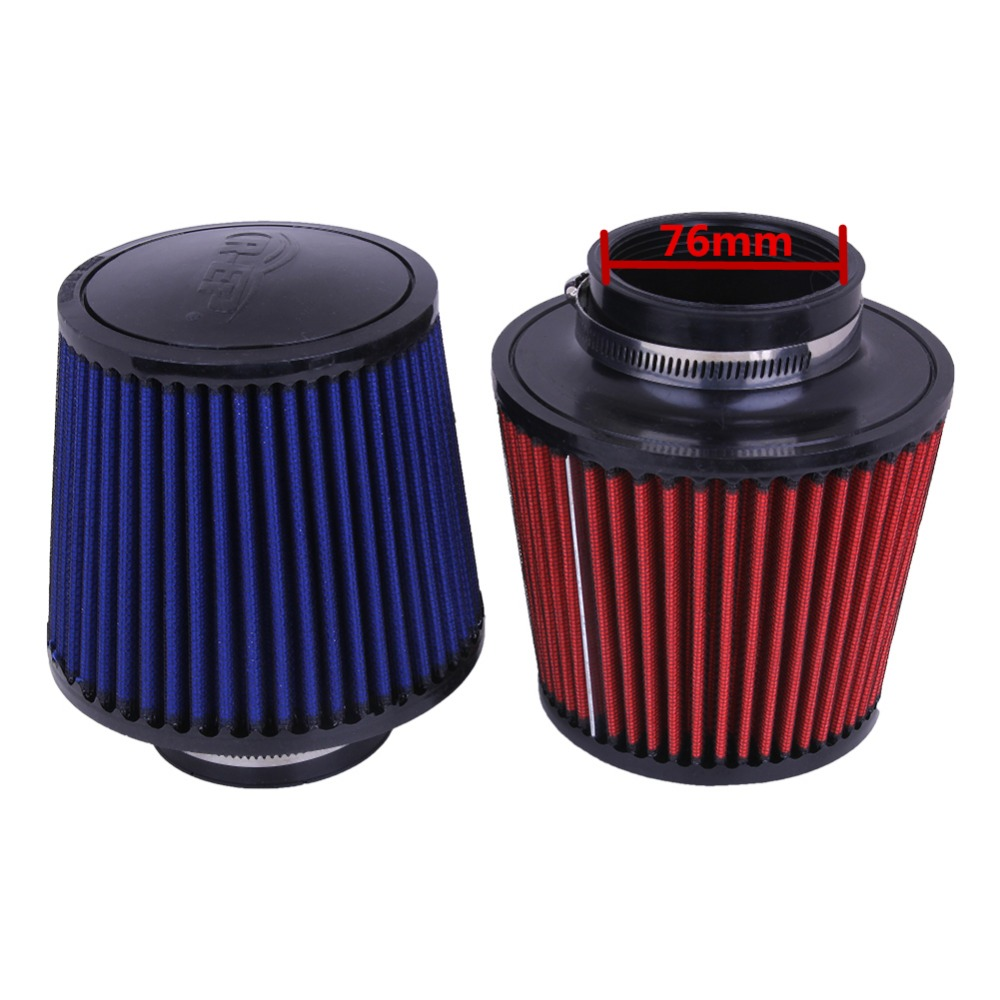 Universal 76mm Car Air Intake Filter Cleaner Auto Hemisphere Mushroom Head Beehive Cleaner Reduce Engine Intake Resistance 76mm 3 car carbon fiber induction air intake filter kit ram filter box cold air intake bellows system part with intake hose