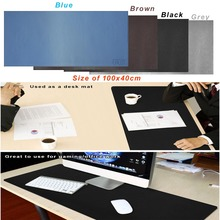 Oversized 100x40cm PU Leather Desk Pad Non-Slip Smooth Mouse Pad Desk Mate Protective Mat for Office Home School Gaming недорого