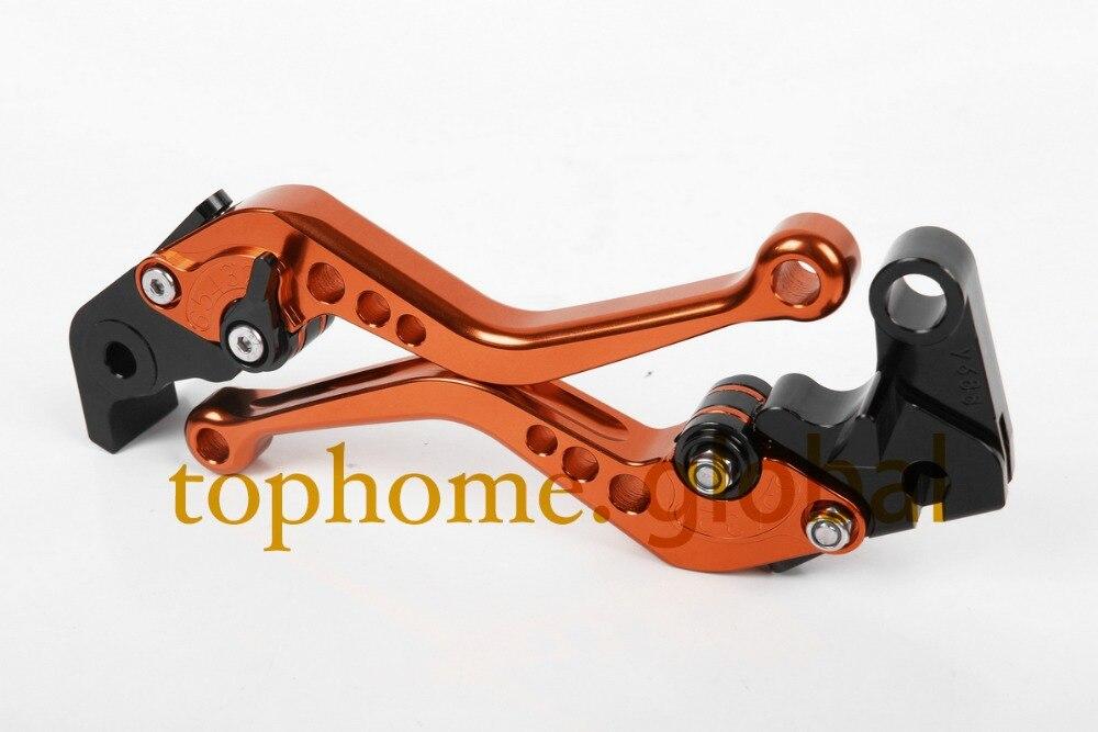 Orange Motorcycle Accessories For KTM RC8/R 2009-2014 2010 2011 2012 2013Handlebar CNC Clutch Brake Levers Short Brake Lug grips