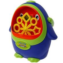 цена на Portable Penguin Shape Automatic Bubble Machine Bubble Blowing Soap Bubbles For Outdoor Party Bubbles Maker Toy Kids Gift