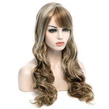 66CM Long Wavy Mixed Colour Synthetic wig