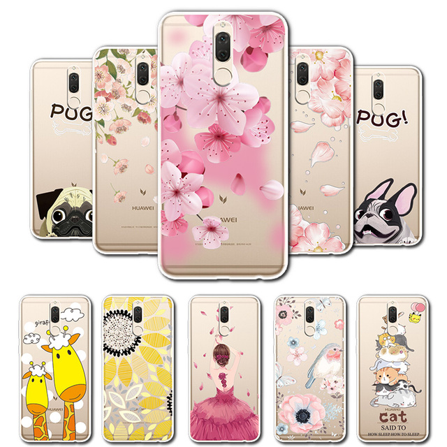 on sale ccdb4 98217 US $0.59 49% OFF|For Huawei Mate 10 Lite 3D Relief Lace Flowers Case Cover  For Huawei Honor 9i Soft TPU Cute Cat Case For Huawei Nova 2i Coque-in ...