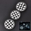 3pcs Chess Patten Anti-Slip Cup Mat for Mini JCW R57 R58 R59 R55 R56  jack union cup mat car cup mat
