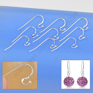 New Arrival kolczyki ustalenia oryginalna 925 Sterling Silver biżuteria ucha drutu S Ball haki DIY Handmade kolekcje