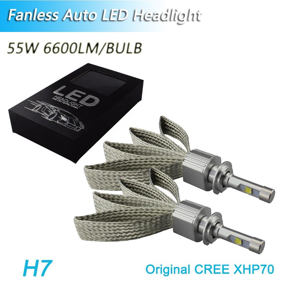 Petit volume tout en un Sans Ventilateur 9005 hb3 9006 hb4 9012 hir2 h11 h7 h4 led cr-ee xhp70 ampoules de phares led 110 w 13200lm un ensemble