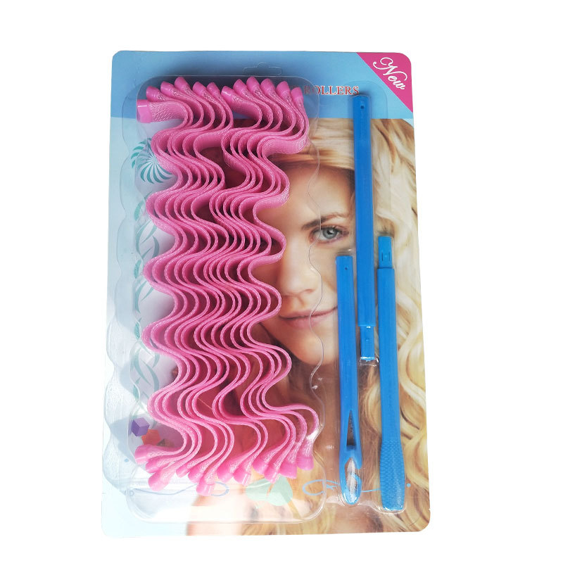 Wholesale hair curlers rollers 45cm water ripple hair curler modelador de cachos para cabelo egg roll plastic  DIY curly hair