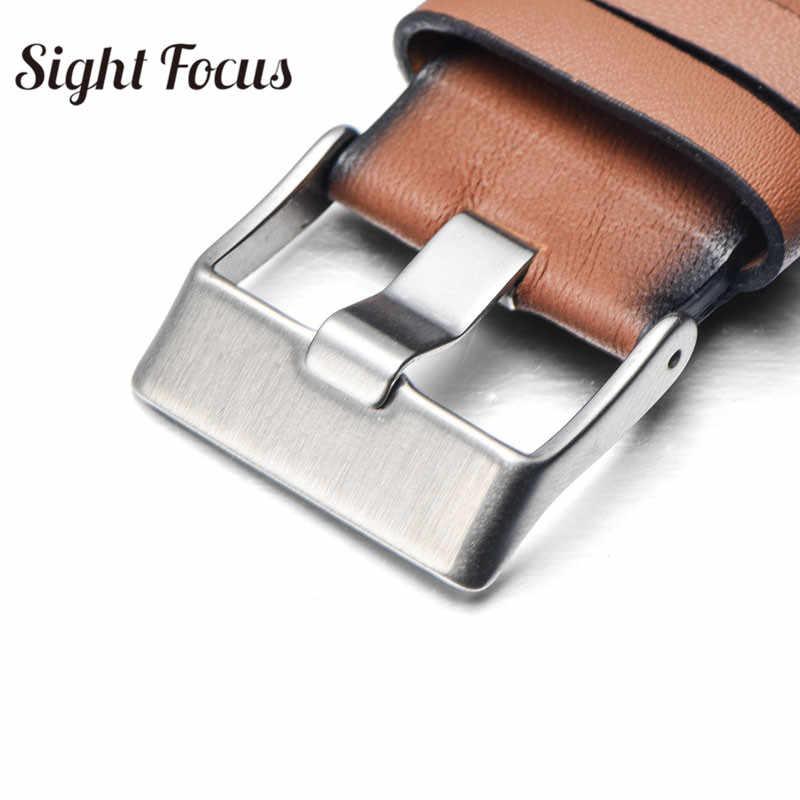 Reloj de pulsera Vintage marrón liso de cuero para diésel DZ7374 Correa 24mm 26mm 28mm pulseras cinturones Retro Pin hebilla de reloj