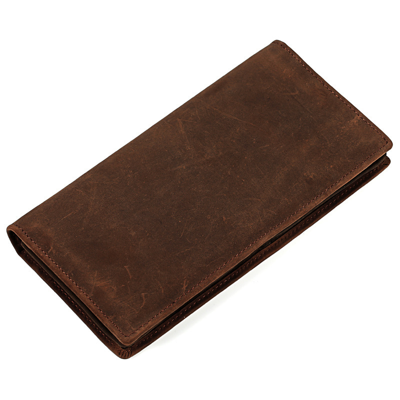 New 2017 Men Long Wallet Genuine Leather Male Vintage Cowhide Purse With Coin Pocket Man Hand Take Money Clip PR089086 maihui ladies cowhide long genuine leather standard wallet women with coin pocket card holder vintage purse note compartment