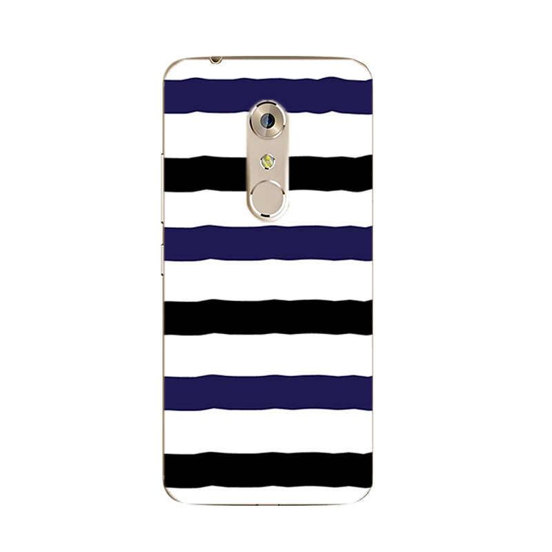 Pour ZTE Nubia Z17 Mini coque de téléphone pour Axon 7 / 7 Mini couverture Ultra mince pour Nubia Z9 MAX coque en Silicone motif noir et blanc