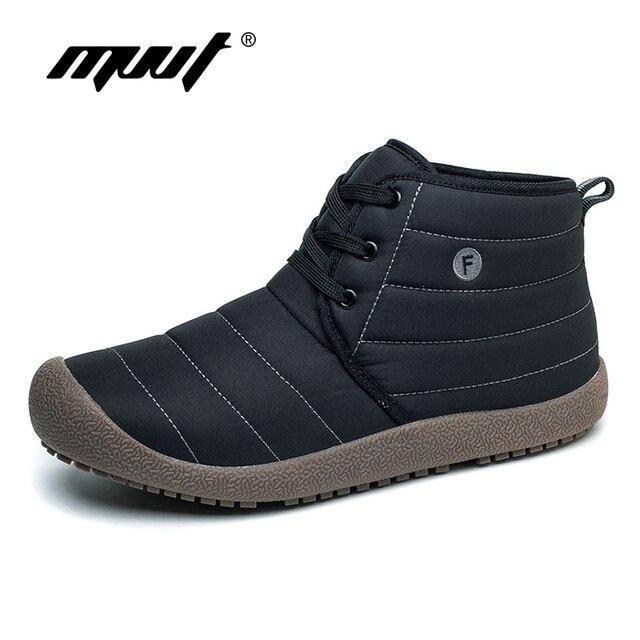 MVVT Herbst Winter Casual schuhe Lace up Männer Stiefel Wasserdichte Stiefeletten rutsch Flache Mode Männer Winter Schuhe plus Größe
