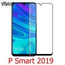 Cobertura completa Protetor de Tela de Vidro Temperado para Huawei P 2019 Inteligente Psmart + POT LX1 LX2J psmart 2019 Película Protetora LX3 Vidro