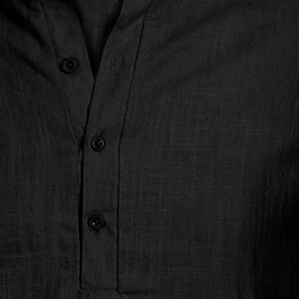 Men's Casual Blouse Cotton Linen shirt Loose Tops Short Sleeve Tee Shirt S-2XL Spring Autumn Summer Casual Handsome Men Shirt 22