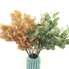 Simulation Plant Indoor Fake Flower Eucalyptus Leaves Money Leaf Ginkgo Home Office Garden Decoration