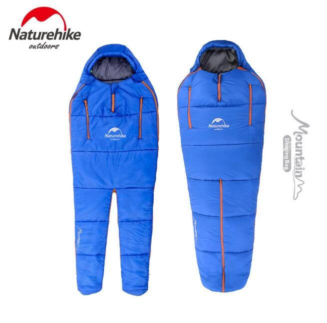 Naturehike Sleeping Bags Camping Tourist Ultralight Compression Bag Outdoor Humanoid Design Can Walk Sit Any Sleeping Position цена 2017