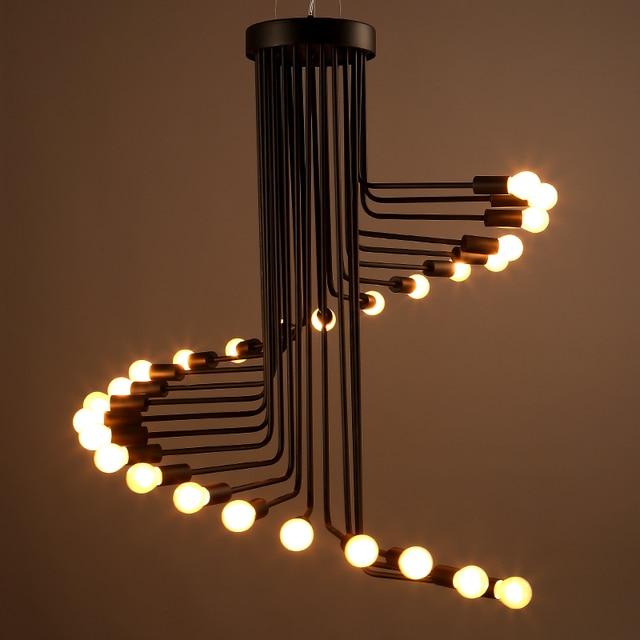 America pendant lamp pendente industrial style droplight for Black pipe light fixture