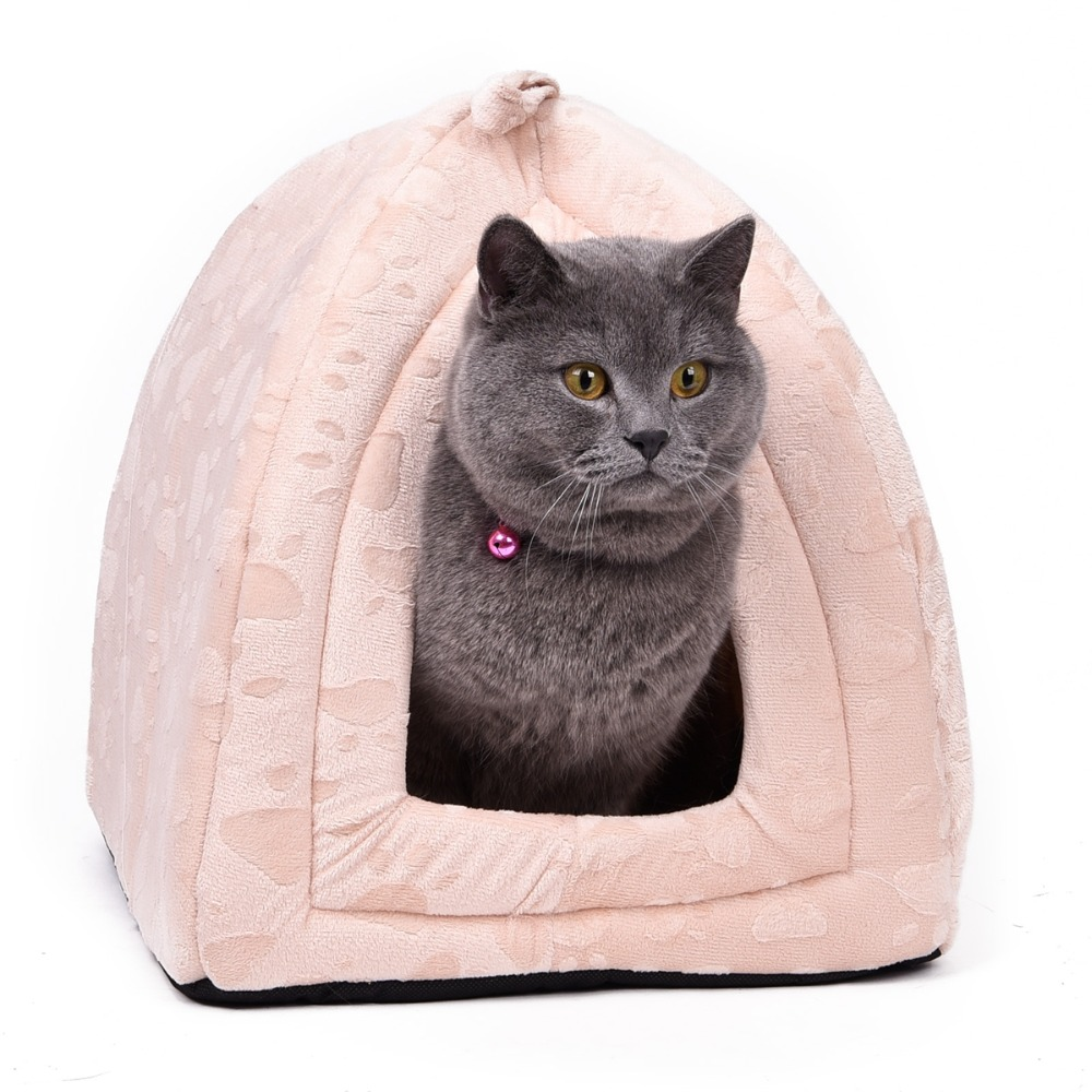 Cone Pet Cat Bed Kitten Kennel Very Soft Fabric Dog Bed Pet House Puppy Dog Cat With Paw Cama Para Cachorro Products For Animals #3