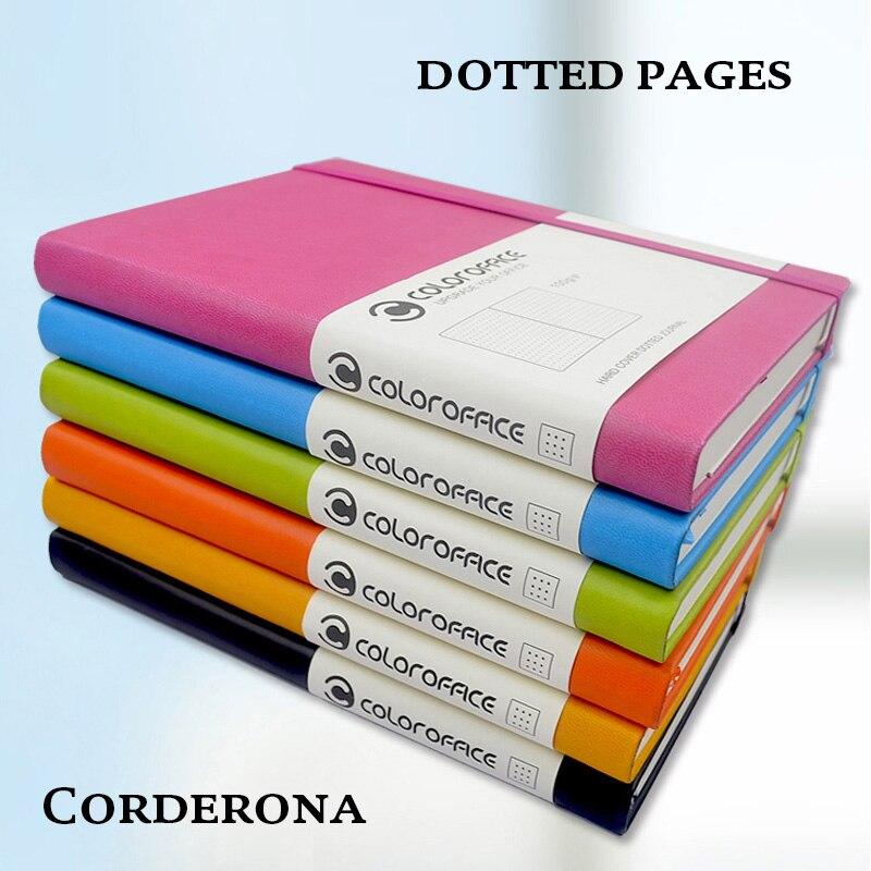 A5 ponto grade bala caderno capa dura plutônio pontilhado jornal