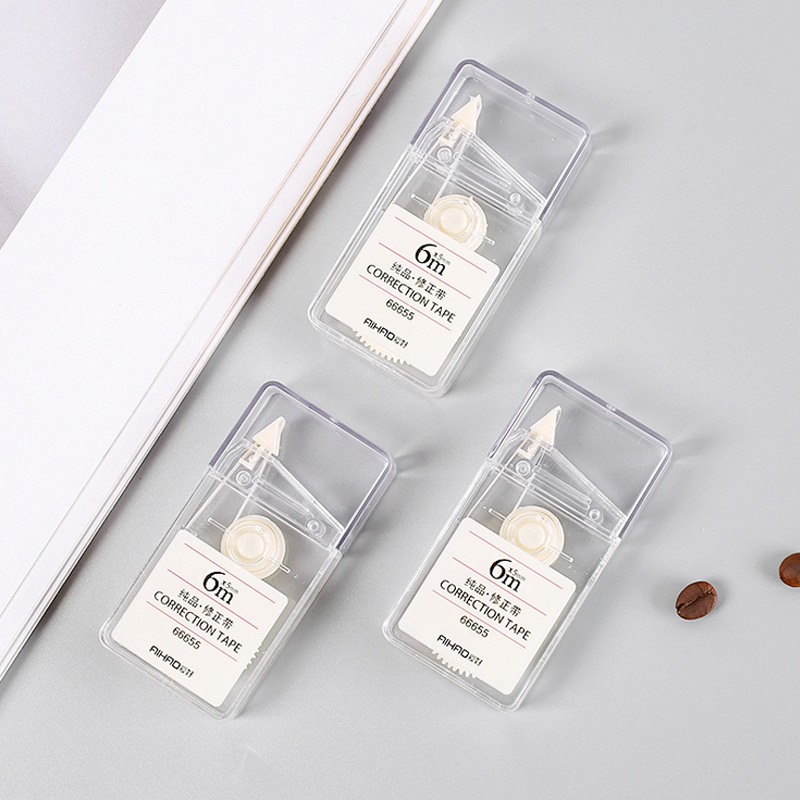 1 X Creative Simple Clear Correction Tape Kawaii Material Escolar Korean Stationery Office School Supplies Papelaria 6M