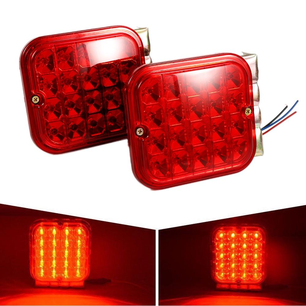 Brake Turn Signal <font><b>Lights</b></font> Liplasting 2 Pcs LED Trailer Tail <font><b>Light</b></font> Kit Brake Turn Signal Utility RV