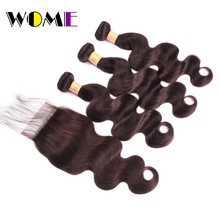 WOME Pre-colored Brazilian Body Wave Bundles With C