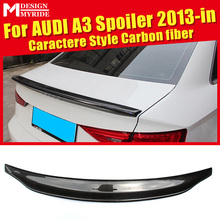 For Audi A3 A3Q Carbon Rear Spoiler Belgium Style Carbon rear spoiler Rear trunk Lid Boot Lip wing car styling Decoration 2013+ a3 rear trunk spoiler wing lip small aev style carbon fiber for a3 a3q auto air rear trunk spoiler tail wing car styling 2013 in