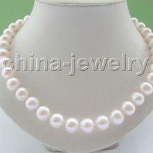 """>>>>> AAA блеск 1"""" 12 мм натуральный белый круглый пресной воды жемчужное ожерелье"""
