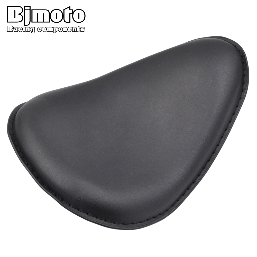 SC03-002 Synthetic Leather Solo Slim Seat for Harley Dyna Sportster 883 1200 XL Custom Bobber Chopper universal black synthetic leather rear rivet passenger seat for harley sportster xl883 48 1200 2004 2015 c 5