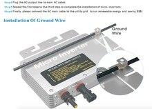 300W Micro Trên Lưới Điện Năng Lượng Mặt Trời PV Power Inverter Wifi Giao Tiếp 22 50VDC 110V/230VAC MPPT Biến Tần Năng Lượng Mặt Trời cho 300W Tấm