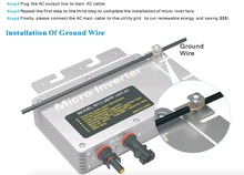 300W Micro on grid Solar PV power inverter with WIFI communication 22 50VDC 110V/230VAC MPPT Solar inverter for 300W Panels