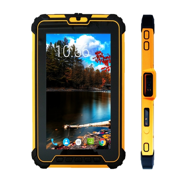 8 inch Android 7.1 Robuuste Tablet PC met 8 core CPU, 2 GHz Ram 4 GB Rom 64 GB Met 2D Barcode Scanner ST827