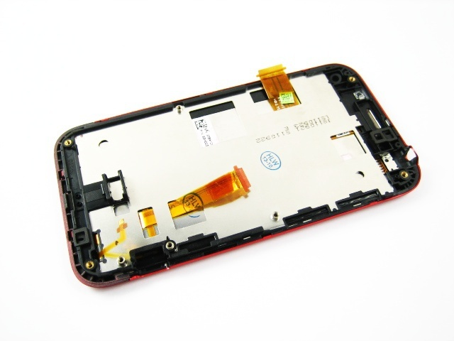 Replacement Full LCD Display + Touch Screen Digitizer + Red Frame for HTC Incredible S / S710E /  G11