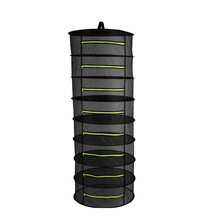 6/8 Layers with Zipper Herb Dry Rack Folding Hanging Drying Net Mesh Dryer Bag For Herbs Flowers Buds Plants Vegetable Fish