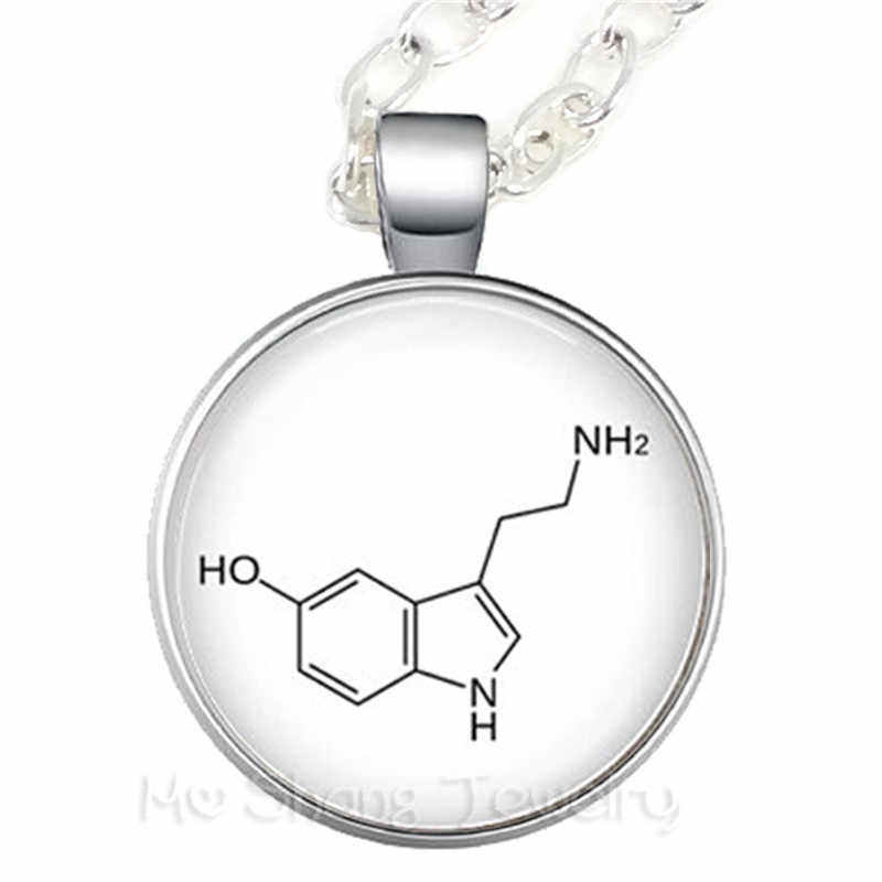 Chemistry Jewellery Sterling Silver Chocolate Necklace Science Jewellery Chocolate Molecule Molecule necklace Theobromine molecule