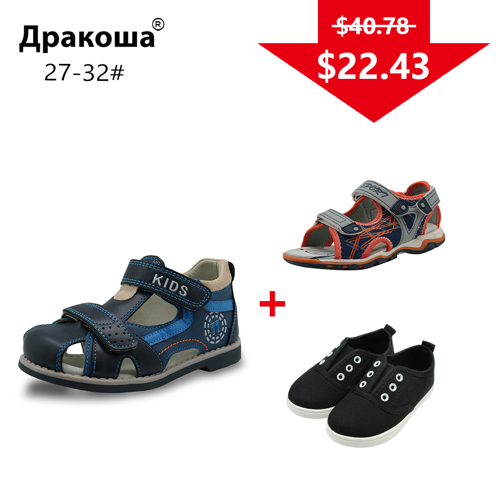 APAKOWA 3 Pairs Boys Summer Sandals Spring Autumn Boys Casual Shoes Sneakers Color Randomly Sent For One Package EU SIZE 27-32